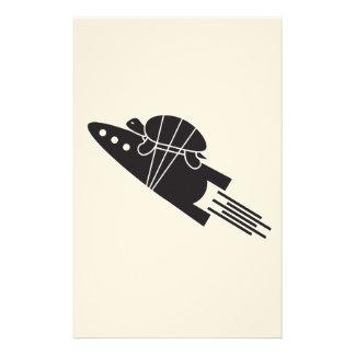 Papelería tortuga que monta un 🐢🚀 del cohete