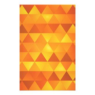 Papelería Triángulos amarillos abstractos