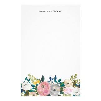 Papelería Trullo floral pintado de la guirnalda del jardín