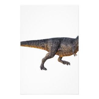 Papelería Tyrannosaurus-Rex con el colorante amarillo