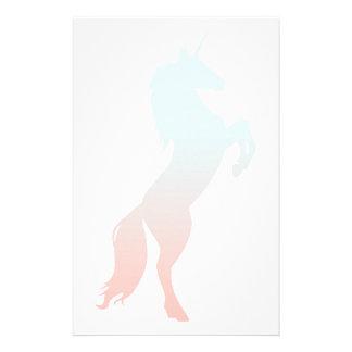 Papelería Unicornio en colores pastel