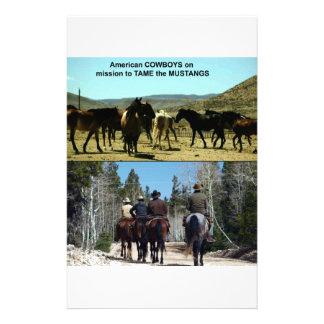 Papelería Vaqueros americanos en viaje a los caballos del