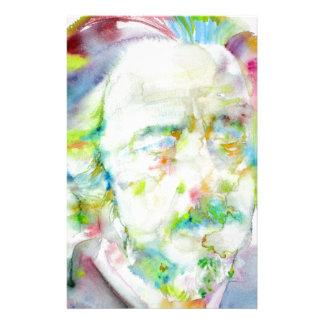Papelería vatios de alan - retrato de la acuarela
