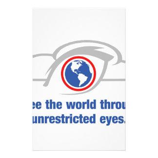 Papelería Veo el mundo a través de ojos sin restricción