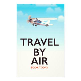 Papelería Viaje por el poster del transporte aéreo
