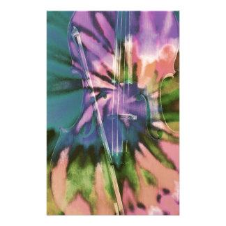 Papelería Violoncelo colorido psicodélico