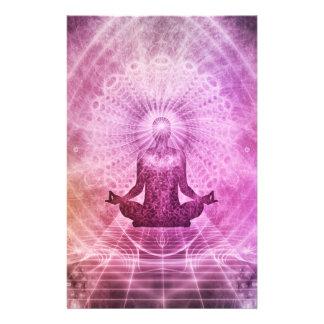 Papelería Zen espiritual de la meditación de la yoga