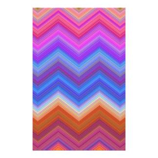 Papelería zigzag, colorido, divertido