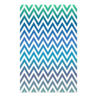 Papelería zigzag, colorido, divertido, azul y verde