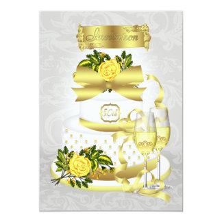 Papeles de la invitación del aniversario de boda