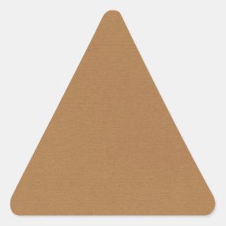 PAPELES PINTADOS T de los FONDOS de solid-brown3 Pegatina Triangular