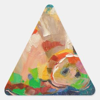 Paperas Pegatina Triangular