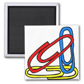 Paperclips coloridos imán cuadrado