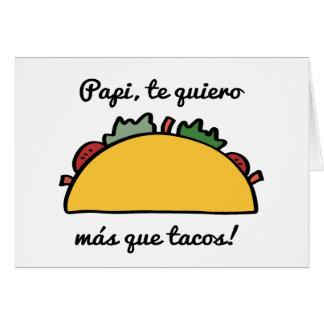 Papi, tarjetas del día de padre del Tacos de Tarjeta De Felicitación