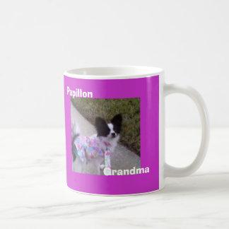 Papillon, abuela taza de café