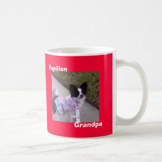 Papillon, abuelo taza de café