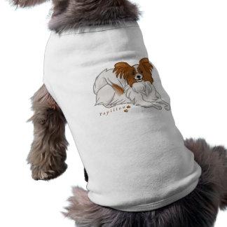papillon camiseta sin mangas para perro