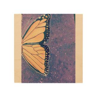 Papillon Impresión En Madera