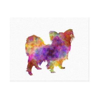 Papillon in watercolor impresión en lienzo