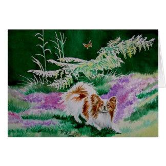 """Papillon """"jardín de la mariposa """" tarjeta de felicitación"""