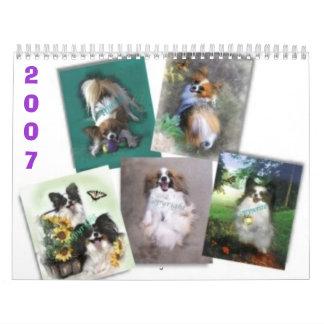 Papillons hermoso, 2007 calendarios de pared