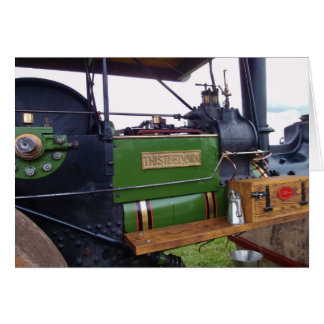Papo del cardo del Steamroller Felicitación