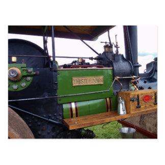 Papo del cardo del Steamroller Tarjeta Postal
