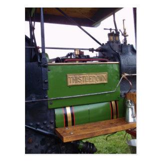 Papo del cardo del Steamroller Tarjetas Postales