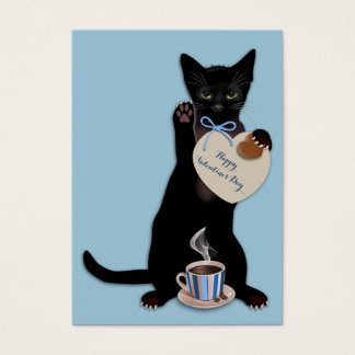 Paquete azul de la tarjeta del día de San Valentín