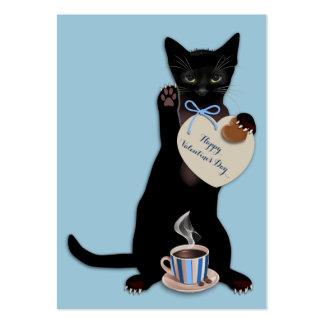 Paquete azul de la tarjeta del día de San Valentín Tarjetas De Visita Grandes