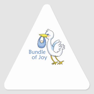 Paquete de alegría calcomanía triangulo