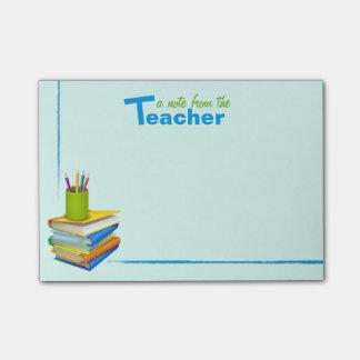 Paquete de la nota del post-it de un profesor