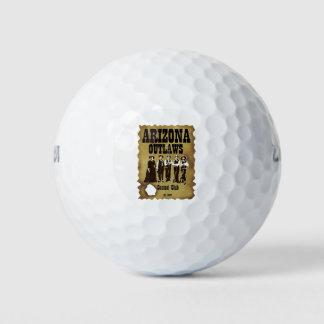 Paquete de las pelotas de golf del club de la