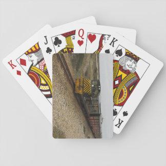 Paquete de tarjetas con la locomotora diesel baraja de cartas
