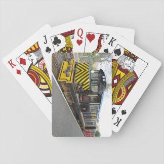Paquete de tarjetas con la locomotora diesel barajas de cartas
