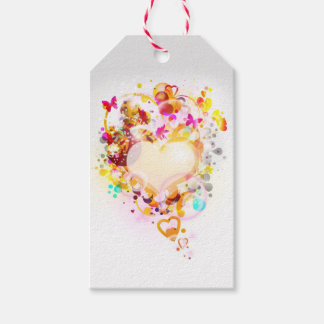 Paquete del corazón del arte moderno de etiquetas