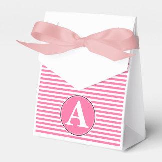 Paquete del regalo, plantilla rayada del cajas para detalles de boda