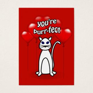 Paquete lindo de los niños del gato del tarjeta de negocios