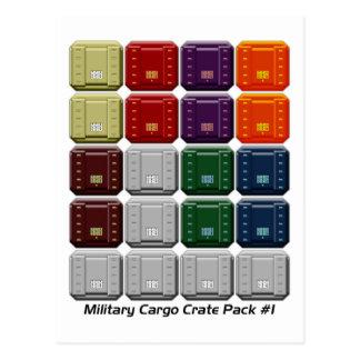 Paquete militar #1 del cajón del cargo tarjetas postales