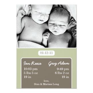Paquetes de invitación del nacimiento del gemelo