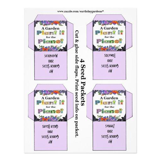 paquetes de la semilla del jardín flyer personalizado