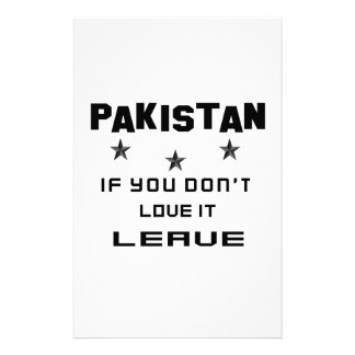 Paquistán si usted no lo ama, se va papelería