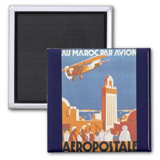 Par Avion de Maroc del Au Imán De Nevera
