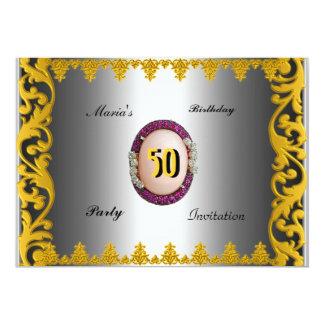 Par del cumpleaños de los hombres de las mujeres invitación 12,7 x 17,8 cm