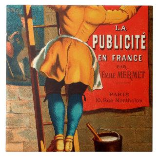 Par Emilio Mermet del en Francia del publicité del Azulejo Cuadrado Grande