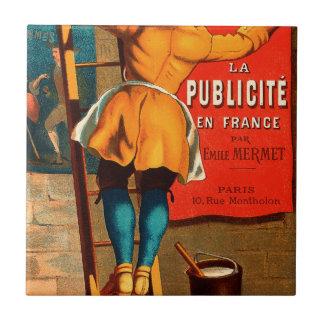 Par Emilio Mermet del en Francia del publicité del Azulejo Cuadrado Pequeño
