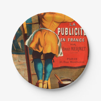 Par Emilio Mermet del en Francia del publicité del Plato De Papel 17,78 Cm