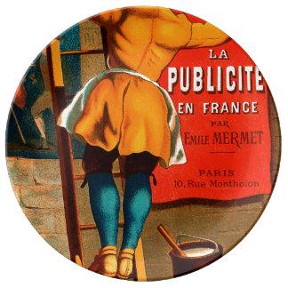 Par Emilio Mermet del en Francia del publicité del Plato De Porcelana