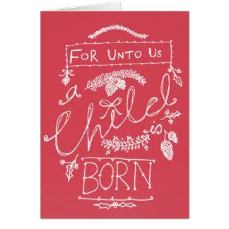 Para a nosotros un niño es tarjeta de Navidad