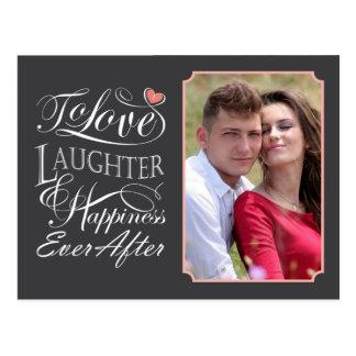 Para amar, risa y felicidad nunca después de cita postal